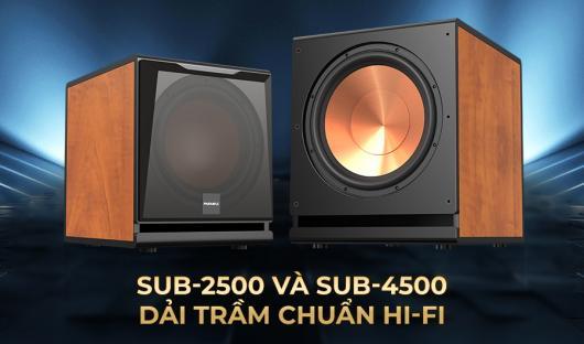 Chào đón thế hệ loa siêu trầm HI-FI công suất lớn của PARAMAX: SUB-2500 và SUB-4500